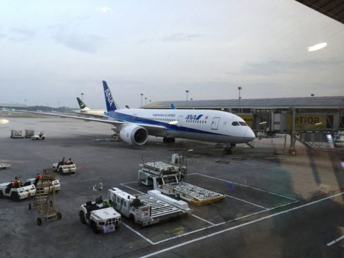 成田空港行きのANA