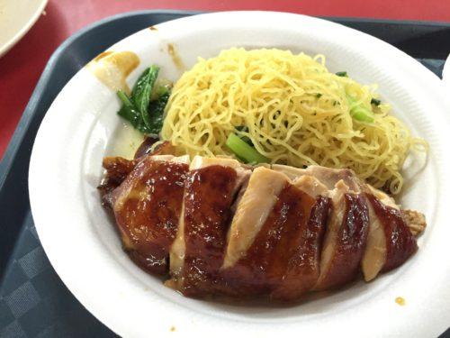 香港油鶏飯麺のチキンヌードル