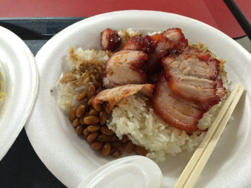 香港油鶏飯麺の叉焼飯