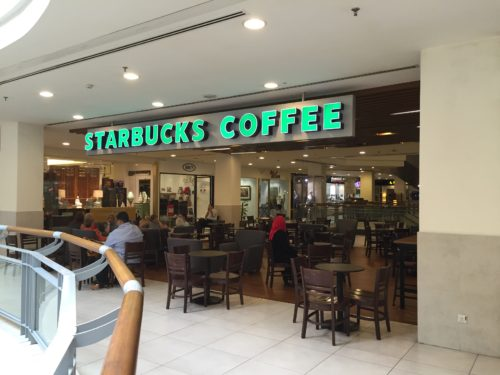Starbucks Vangsar Village IIの外側席