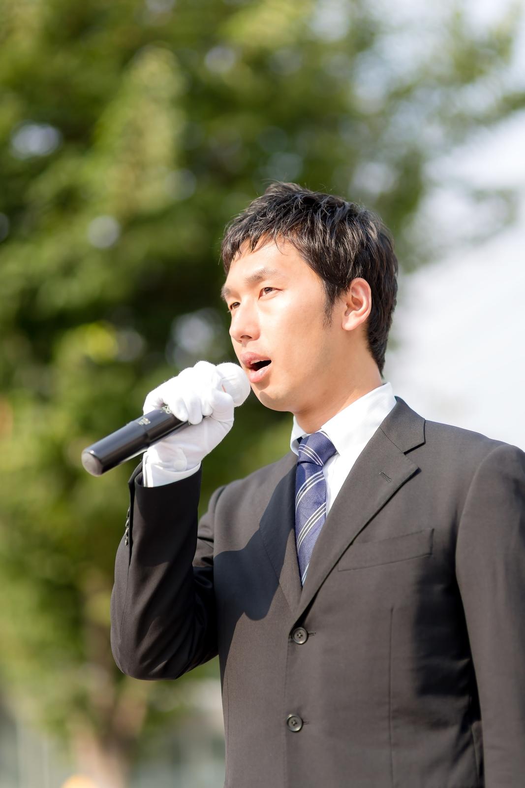 市長選の若き候補者